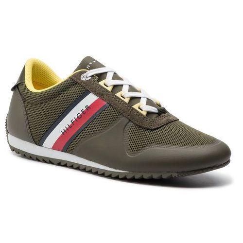 5a32773e68784 Sneakersy TOMMY HILFIGER - Essential Modern Mesh Runner FM0FM02270 Olive  Night 010 - Zdjęcie
