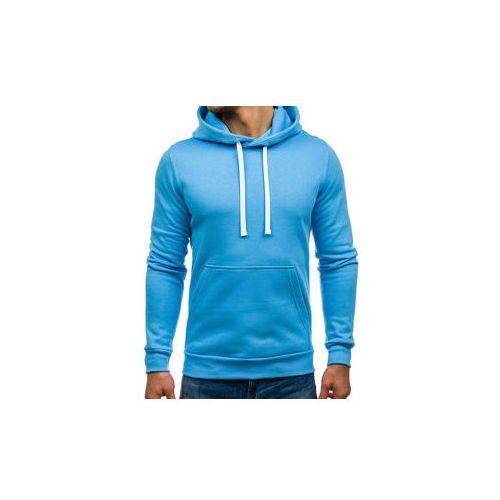Bluza męska z kapturem błękitna Denley 02, z