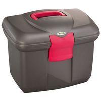 pudełko na narzędzia do pielęgnacji koni roma, czarne/różowe marki Kerbl