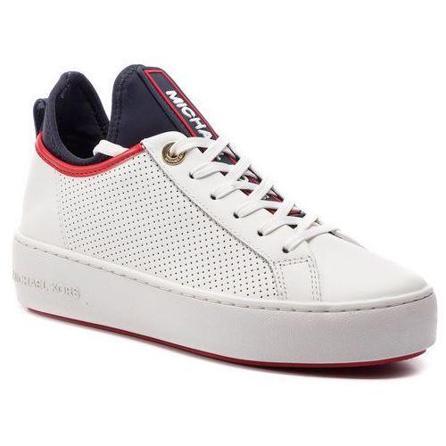 1acd6e7599f5b MICHAEL Michael Kors Sneakersy MICHAEL MICHAEL KORS - Ace Lace Up  43S9ACFS1L Opt/Admiral, kolor biały