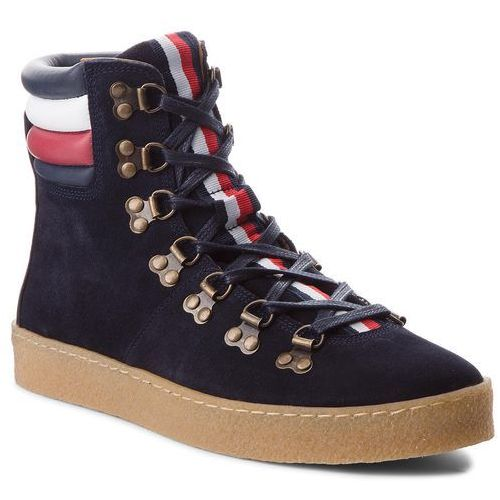 dfdb3fb0c7f4c Kozaki TOMMY HILFIGER - Crepe Outsole Hiking Hybrid Boot FM0FM01918  Midnight 403