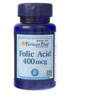 Puritan's Pride Kwas foliowy 400 mcg - 250 tabletek