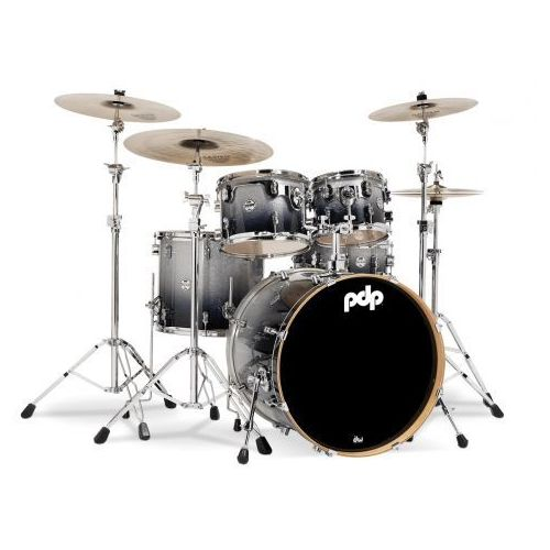 Pdp (pd805909) drumset silver to black sparkle fade