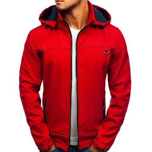 Kurtka męska przejściowa softshell czerwona Denley 82648, kolor czerwony