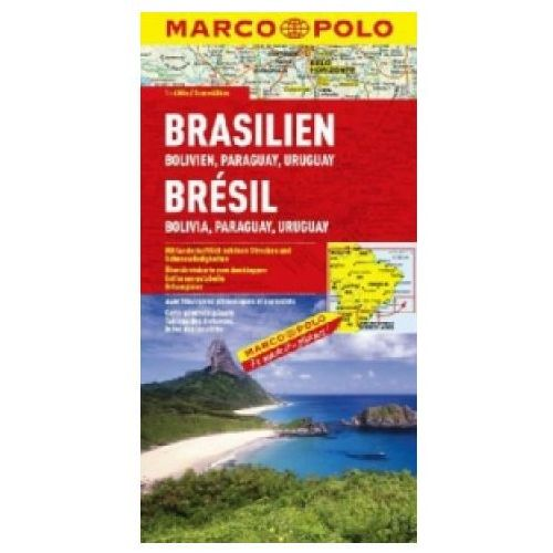 Brazylia. Mapa samochodowa, składana 1:4 000 000. Marco Polo. (2014)