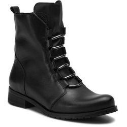 Botki WOJAS - 8672-51 Czarny, kolor czarny