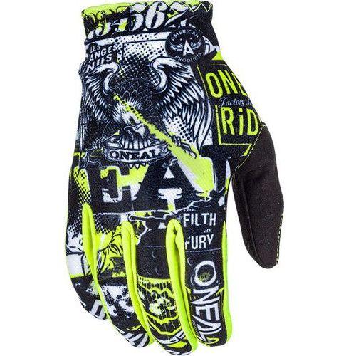 matrix rękawiczki dzieci, attack black/neon yellow m | 5 2019 rękawice dziecięce marki O'neal