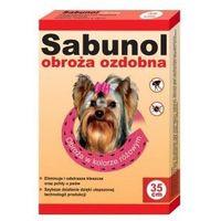 Dermapharm Sabunol obroża dla yorka przeciw pchłom i kleszczom ozdobna różowa 35cm