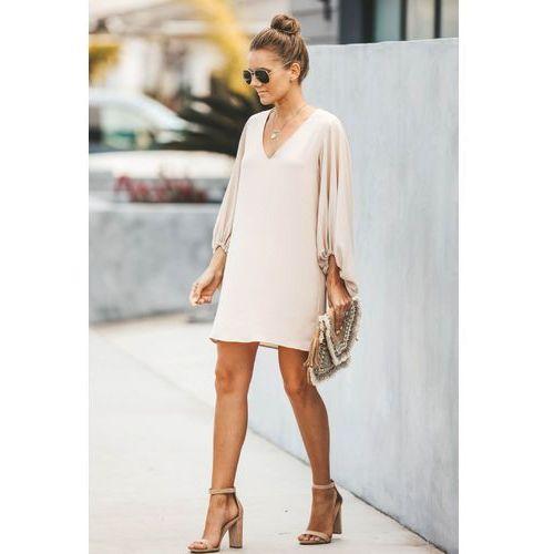 Sukienka PERIE BEIGE, w 4 rozmiarach