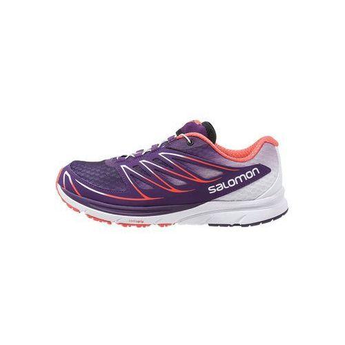 Salomon SENSE MANTRA 3 Obuwie do biegania Szlak cosmic purple/white/coral punch