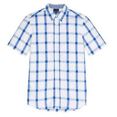 afbbd3a05859ff Koszula z krótkim rękawem w kratę Regular Fit bonprix lodowy niebieski -  biały w kratę bonprix