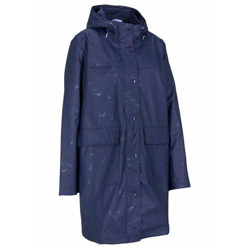 Płaszcz przeciwdeszczowy bonprix ciemnoniebieski, poliester