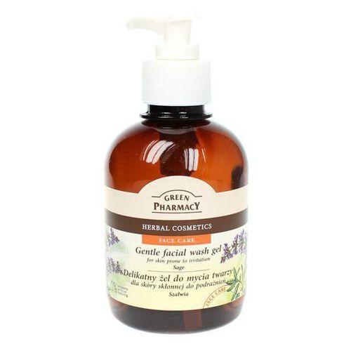 Green Pharmacy Face Care Sage delikatny żel oczyszczający do skóry ze skłonnością do podrażnień (0% Parabens, Artificial Colouring) 270 ml