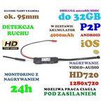 Szpiegowska Mini-Kamera HD (do ukrycia/zabudowy) WiFi/P2P (zasięg cały świat!) + Zapis..., 590175109534