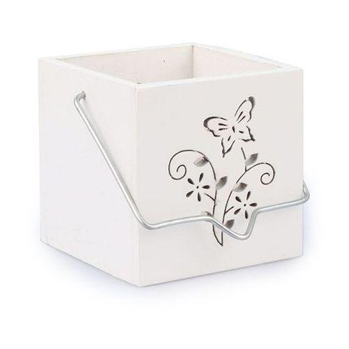 Świecznik do powieszenia motyl biały, zs0505 4home