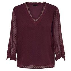 ONLY Koszulka bordowy, kolor czerwony