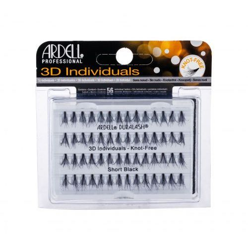 Ardell 3d individuals duralash knot-free sztuczne rzęsy 56 szt dla kobiet short black - Rewelacyjna promocja