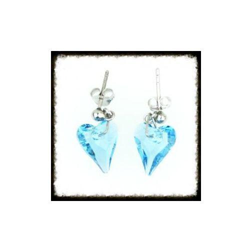 Kolczyki Serce Swarovski Crystal błękit 2003