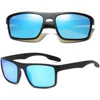 Okulary przeciwsłoneczne męskie polaryzacyjne blue - czarny