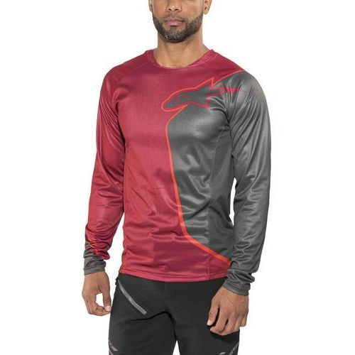 d8ed612fe Alpinestars sierra koszulka kolarska, długi rękaw mężczyźni szary/czerwony  xl 2017 koszulki mtb i