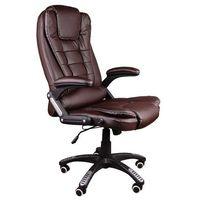Fotel biurowy bruno brązowy z masażem marki Giosedio