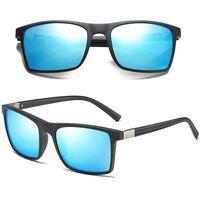 Okulary polaryzacyjne męskie przeciwsłoneczne blue - matte black/blue