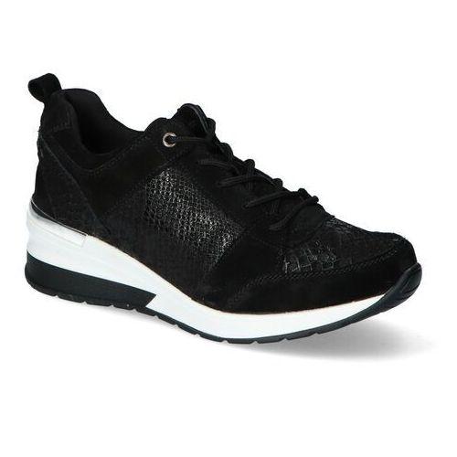 Sneakersy dp1505/20bk czarne zamsz, Filippo