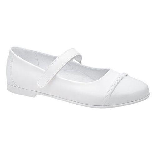 23ca1749 Zobacz w sklepie Balerinki buty komunijne 6271 białe baleriny - biały  Kornecki