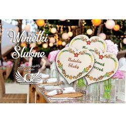 Dekoracje stołu weselnego GRAWERNIA.PL - Grawerowanie i Wycinanie Laserem GRAWERNIA.PL