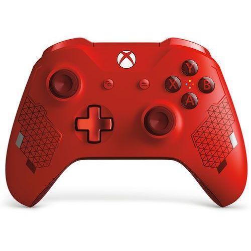 Kontroler bezprzewodowy xbox sport red special edition marki Microsoft