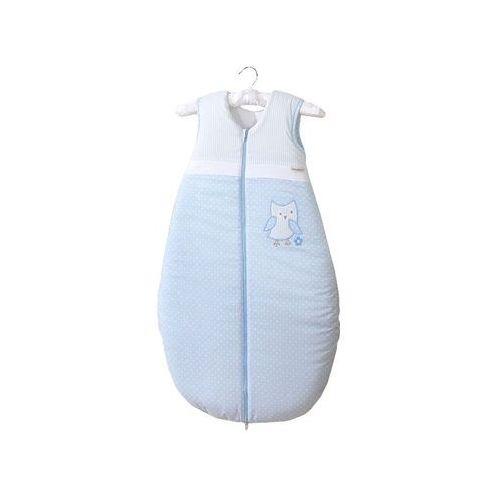 śpiworek do 18 m-ca haftowany sówki uszatki błękitne marki Mamo-tato
