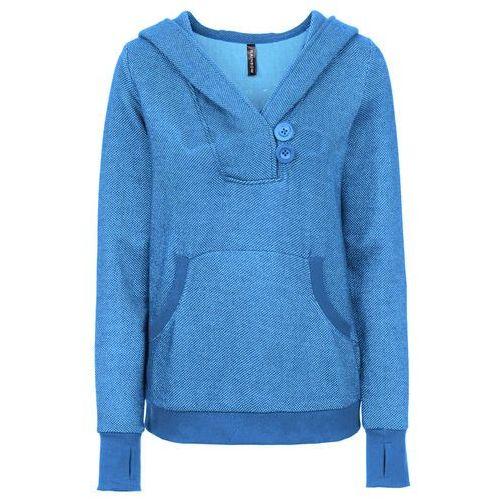 Bluza dresowa niebieski melanż, Bonprix, 32-46
