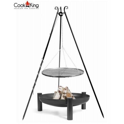 Zestaw GRILL stal czarna + palenisko PALMA - 4 rozmiary Promocja Wiosenna!!!, CookKing