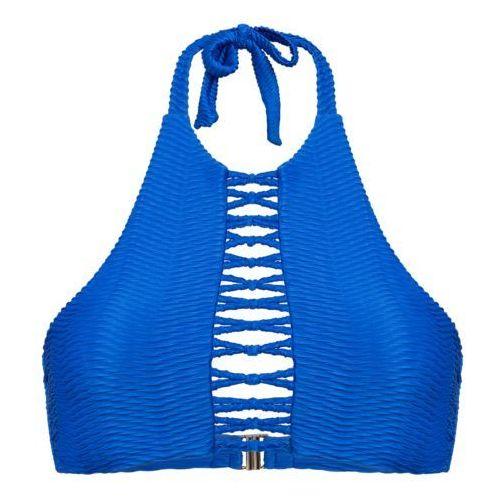 Palmers TIE HIGHNECK Góra od bikini blau, poliamid