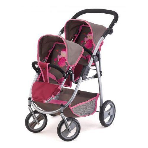 Bayer design wózek podwójny dla lelek kolor borodowo-szary 2657800 (4003336265781)