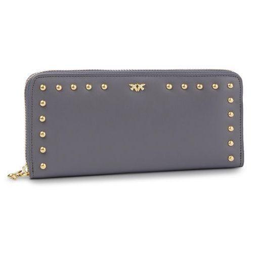 67d84aa57aee8 Pinko Duży portfel damski - blonde wallet zip around l pe 19 pltt 1p21b6  y5eu dark