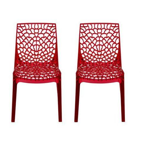 Aktualne Komplet 2 krzeseł sztaplowanych diademe - pełny poliwęglan IH95