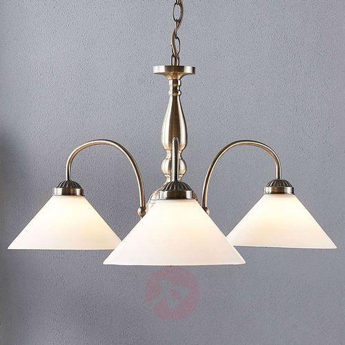 Lampa wisząca otis z trzema kloszami (LINDBY)