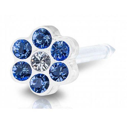 Blomdahl daisy sapphire / crystal 5 mm