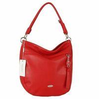 DAVID JONES czerwona torebka shopperka na ramię - czerwony