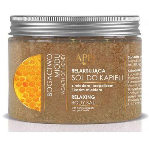 Apis bogactwo miodu relaksująca sól do kąpieli z miodem, propolisem i kozim mlekiem (41090) - Genialny rabat