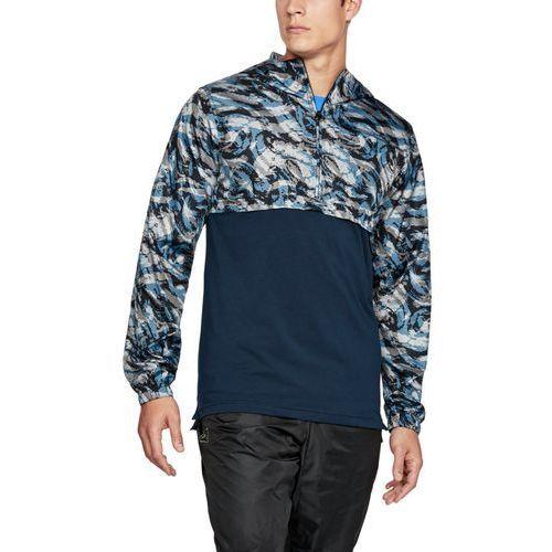 Under armour kurtka przeciwdeszczowa wind anorak niebieska - niebieski