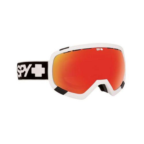 Gogle narciarskie spy platoon white-bronze w/red spectra + blue contact Spy