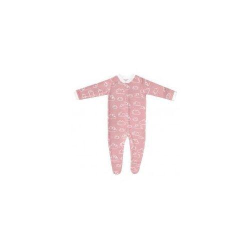 """Pajac """"happy prints"""" - różowe chmurki marki Dolce sonno"""