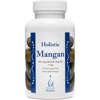 Kapsułki Holistic Mangan L-asparaginian manganu cytrynian manganu 5mg 100kaps.