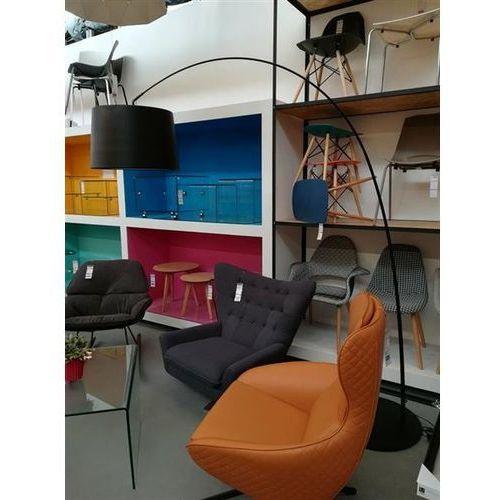 2a185a0e9c34e4 ... Lampa podłogowa cleo czarna - włókno węglowe, metal marki King home -  Zdjęcie Lampa podłogowa ...
