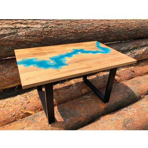 Stolik z żywicy 100x64 Lazurowa Rzeka 3D