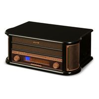 Auna Belle Epoque 1908 miniwieża stereo retro gramofon USB CD MP3 (4260509685733)