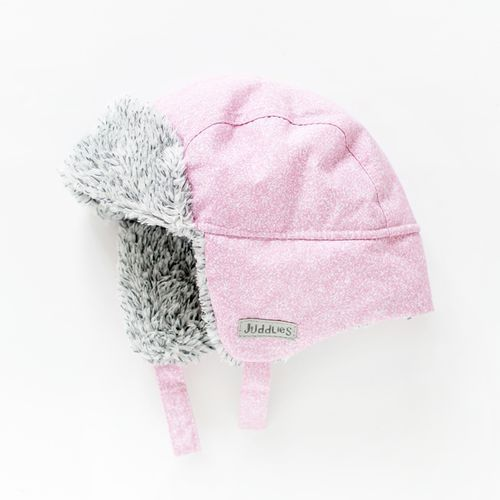 Juddlies czapka zimowa salt&pepper pink l