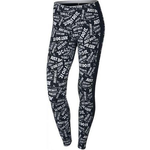 394c249a32c9e9 Nike legginsy sportowe W NSW LGGNG CLUB PRNT Black/White L, kolor biały